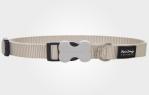 Collar para perro nylon gris
