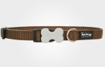 Collar para perro nylon marrón