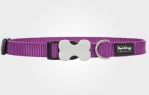 Collar para perro nylon purpura